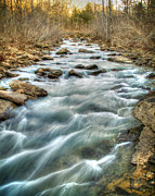 Richland Creek Wilderness Prints - 1104-5570 Falling Water Creek  Print by Randy Forrester