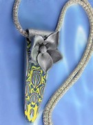 Mirror Jewelry - 1105 Silver Blossom by Dianne Brooks