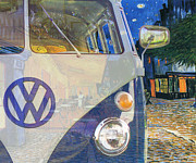 Vangogh Originals - 110909 BlueChip VolksWagen MicroBus Type2 VanGogh tribute by BlueChip Luigi Gallone