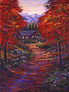 Wooden Cabin Paintings - 1133 Friendly House by David Lloyd Glover