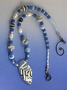 Sand Jewelry Originals - 1147 Blue Maze by Dianne Brooks