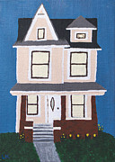 House Portrait Prints - 1158 Kalamazoo Print by Laurie Kerr