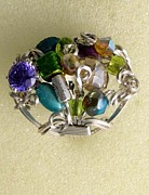 Teal Jewelry - 1171 Bling Bling Cluster Ring by Dianne Brooks