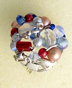Silver-filled Art - 1176 Bling Bling Cluster Ring by Dianne Brooks