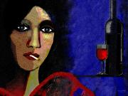 Wine Bottle Digital Art - 118 - Poster Marie in the morning  by Irmgard Schoendorf Welch