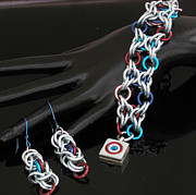 Polymer Jewelry - 1182 Xs and Os by Dianne Brooks