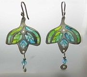 Stained Jewelry - 1188 a la Tiffany by Dianne Brooks