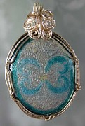Teal Jewelry - 1190 Victoriana by Dianne Brooks