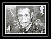 Mccoy Drawings Framed Prints - 11th Doctor Matt Smith Framed Print by Jenny Campbell Brewer