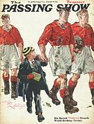 Football Drawings Metal Prints - 1930s,uk,the Passing Show,magazine Cover Metal Print by The Advertising Archives
