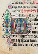 Anonymous Sienese Painter, Psalter Print by Everett