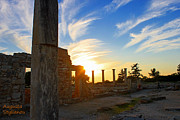 Archeological Sight Prints - Apollo Sanctuary - Cyprus Print by Augusta Stylianou