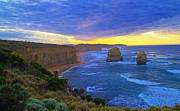12 Apostles Framed Prints - 12 Apostles Sunrise Framed Print by Jose Rojas