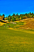 Us Open Art - #12 at Chambers Bay Golf Course - Location of the 2015 U.S. Open Tournament by David Patterson