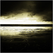 Storm Clouds Prints - Beach Print by Les Cunliffe