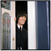 Ringo Framed Prints - Beatles HELP George Harrison Framed Print by Emilio Lari