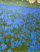 Bluebells Paintings - Bluebell Knoll by Malcolm Warrilow