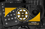 Puck Framed Prints - Boston Bruins Framed Print by Joe Hamilton