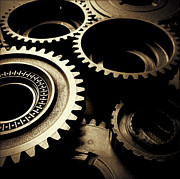 Clockwork Photos - Cogs by Les Cunliffe