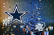 Christmas Cards Framed Prints - Dallas Cowboys Framed Print by Joe Hamilton