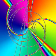 Depression Color Therapy Inside A Rainbow Print by Josef Putsche