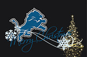 Offense Metal Prints - Detroit Lions Metal Print by Joe Hamilton