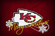 Christmas Greeting Photo Framed Prints - Kansas City Chiefs Framed Print by Joe Hamilton