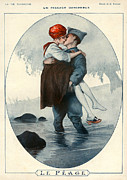 First Love Drawings Framed Prints - La Vie Parisienne 1918 1910s France Framed Print by The Advertising Archives