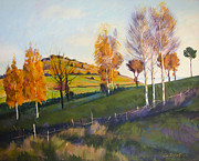 Landscape Mixed Media Prints - Landscape Print by Stoiko Donev