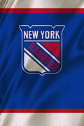 Hockey Prints - New York Rangers Print by Joe Hamilton