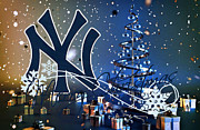 Glove Prints - New York Yankees Print by Joe Hamilton