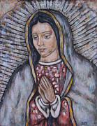 Our Lady Of Guadalupe Framed Prints - Our Lady of Guadalupe Framed Print by Rain Ririn