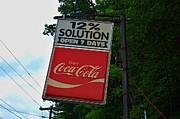 Coca-cola Sign Art - 12 Percent Solution - Coca Cola Sign by Sharon L Stacy