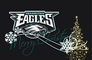 Christmas Greeting Photo Framed Prints - Philadelphia Eagles Framed Print by Joe Hamilton