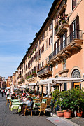 Sunny Art - Piazza Navona in Rome by George Atsametakis