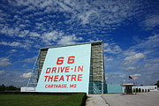 Flag Framed Prints Posters - Route 66 Drive-In Theatre Poster by Frank Romeo