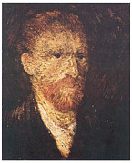 Self-portrait Prints - Self-Portrait Print by Vincent Van Gogh