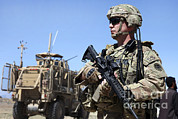 Logar Prints - U.s. Army Soldier Provides Security Print by Stocktrek Images
