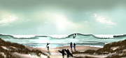 Beach Scenes Mixed Media - #12 by Vjkelly Artwork