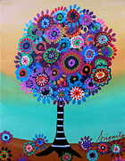 Folk Paintings - Tree Of Life by Pristine Cartera Turkus