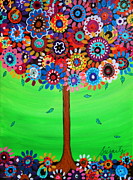 Pristine Cartera Turkus Prints - Tree Of Life Print by Pristine Cartera Turkus