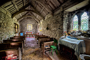 Glass Digital Art Posters - 12th Century Chapel Poster by Adrian Evans