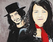 Meg White Prints - #13-21 White Stripes Print by Dane Tate