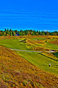 Us Open Art - #13 at Chambers Bay Golf Course - Location of the 2015 U.S. Open Tournament by David Patterson