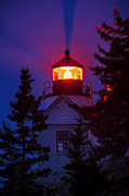 Maine Lighthouses Photo Posters - Bass Harbor Lighthouse Poster by John Greim
