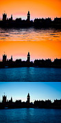 London Skyline Art - Big Ben and the houses of Parliament  by David French