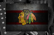 Puck Framed Prints - Chicago Blackhawks Framed Print by Joe Hamilton