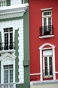 Opposite Colors Posters - Colorful Old San Juan Poster by Birgit Tyrrell