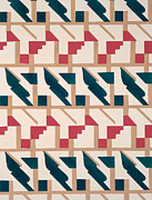 Textile Art Prints - Design from Nouvelles Compositions Decoratives Print by Serge Gladky