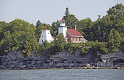 Photo Gallery Website Prints - Door County Scenery - Lighthouses Print by Peter L Wyatt